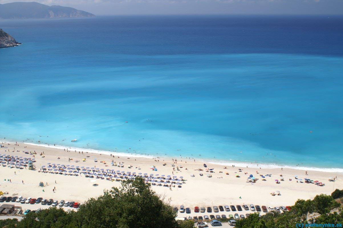 Myrtos, Kefalónia. Myrtos beach colour
