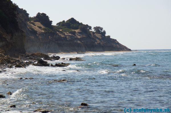2038edb8a3d1 Pohľad na bývalé pláže pri vtoku do jazera Korission (za mojím chrbtom). V